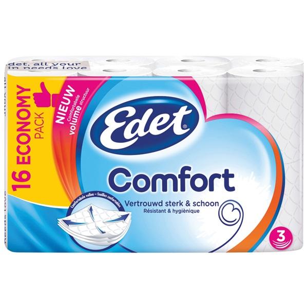 Edet toiletpapier comfort 3-laags voorkant