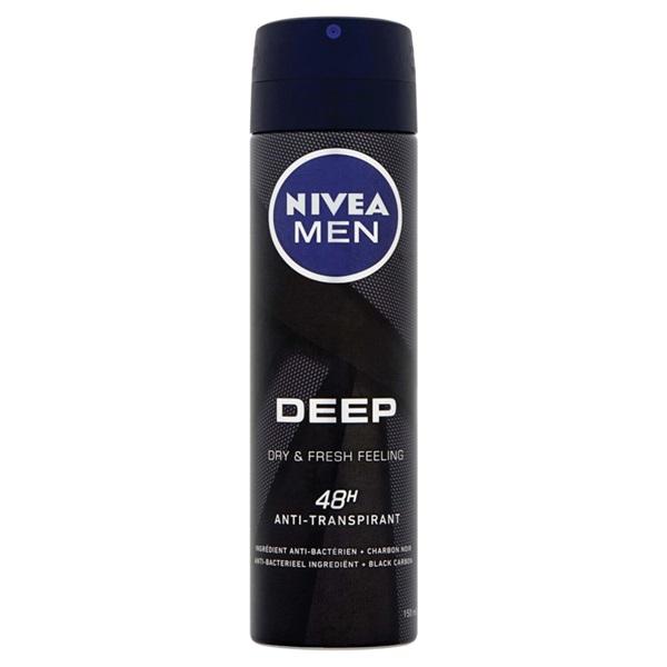 Nivea men deep spray 48H anti-transpirant voorkant