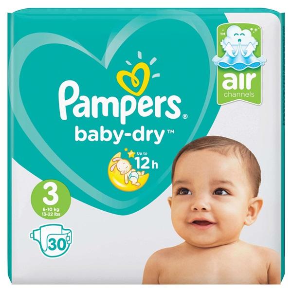 Pampers baby dry luiers carry pack maat 3  voorkant