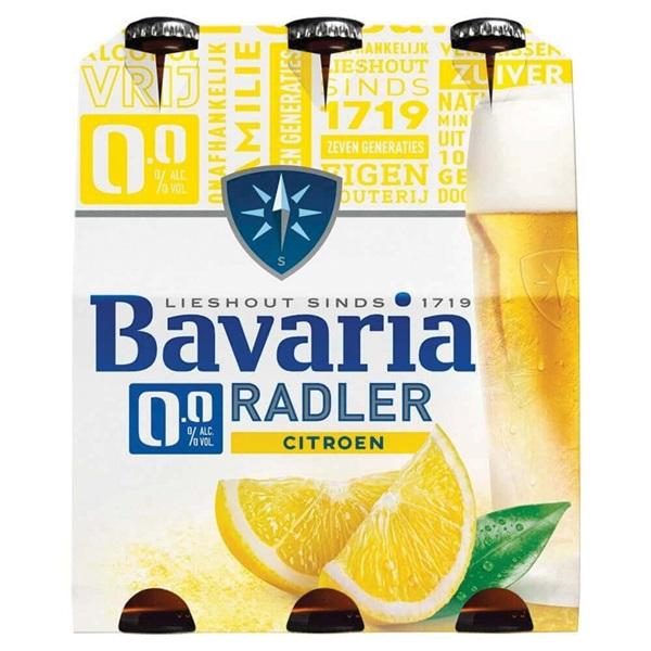 Bavaria 0.0 radler lemon 6-pack voorkant