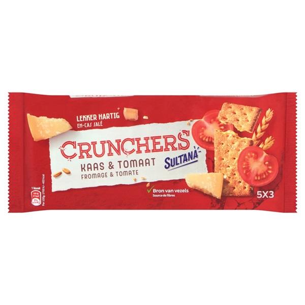 Sultana Crunchers  Kaas Tomaat voorkant