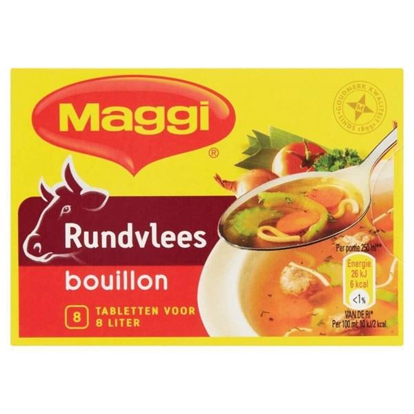 Maggi bouillon rund voorkant