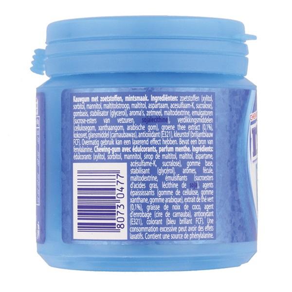 Mentos Kauwgom Bottle Pure Freshmint achterkant