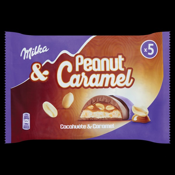 Milka peanut caramel  5-pack voorkant