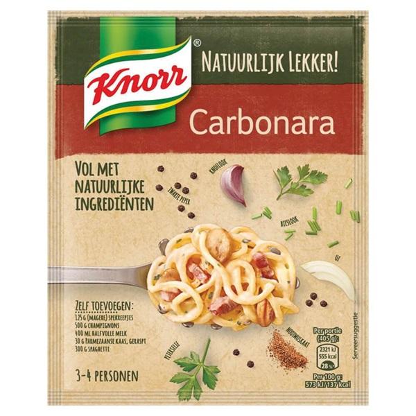 Knorr natuurl lekker mix  spagh/carb. voorkant