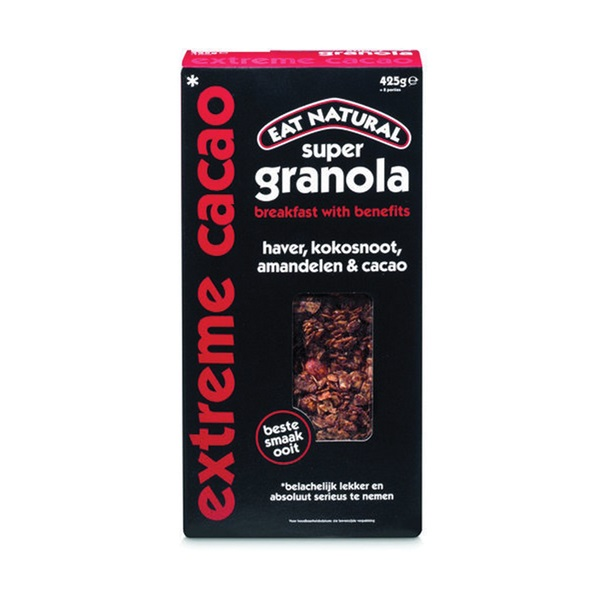 Eat Natural Super granola Cacao voorkant