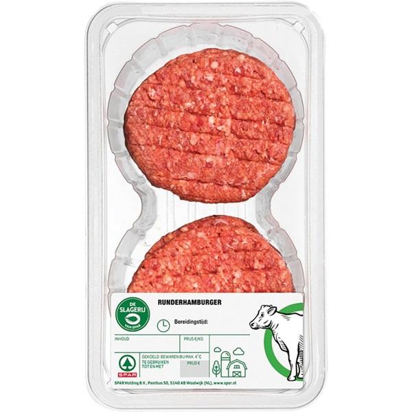 Spar runderhamburger 4 stuks voorkant