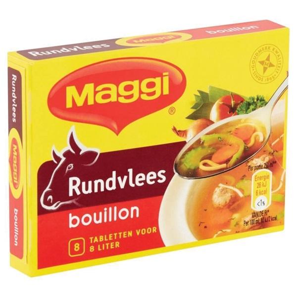 Maggi bouillon rund achterkant