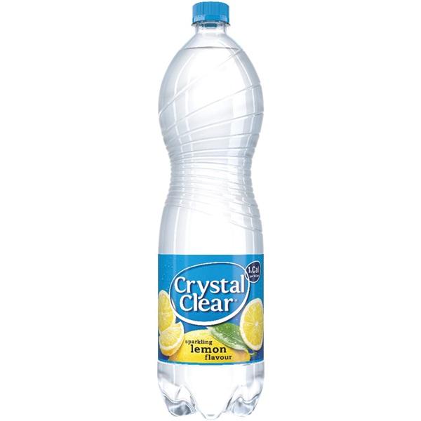 Crystal Clear sparkling lemon voorkant