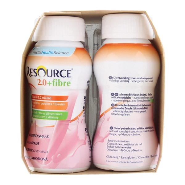 Nestlé Resource 2,0 Aardbei achterkant