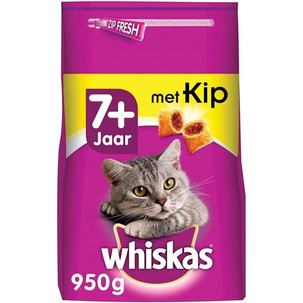 Whiskas Senior Kattenvoer Brokken Met Kip voorkant