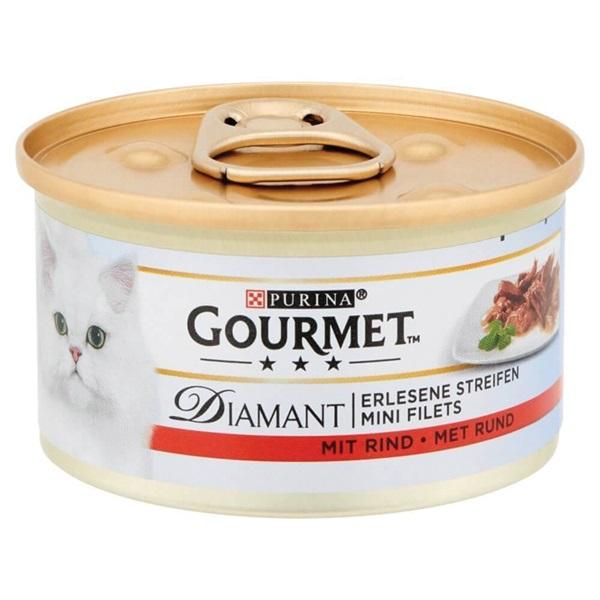 Gourmet Diamant Kattenvoer Reepjes Rund In Saus achterkant