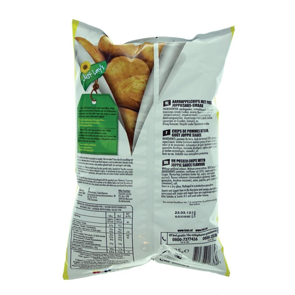 Lay's chips Patatje Joppie achterkant