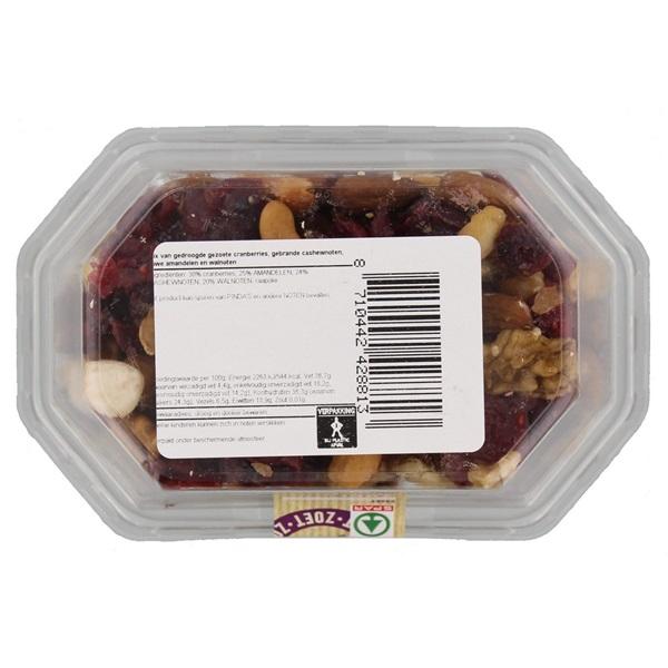 Spar Nootjes Notenmix Cranberry'S achterkant
