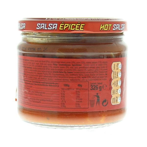Doritos Dipsaus Dipsaus Hot Salsa achterkant