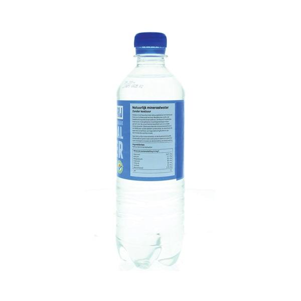 Spar Mineraalwater Blauw achterkant