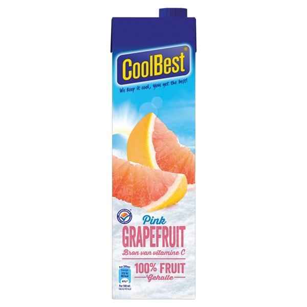 Coolbest Vruchtensap Pink Grapefruit voorkant