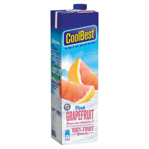 Coolbest Vruchtensap Pink Grapefruit achterkant