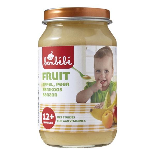 Bonbébé Baby/Peuter Fruithapje Appel, Peer En Banaan voorkant