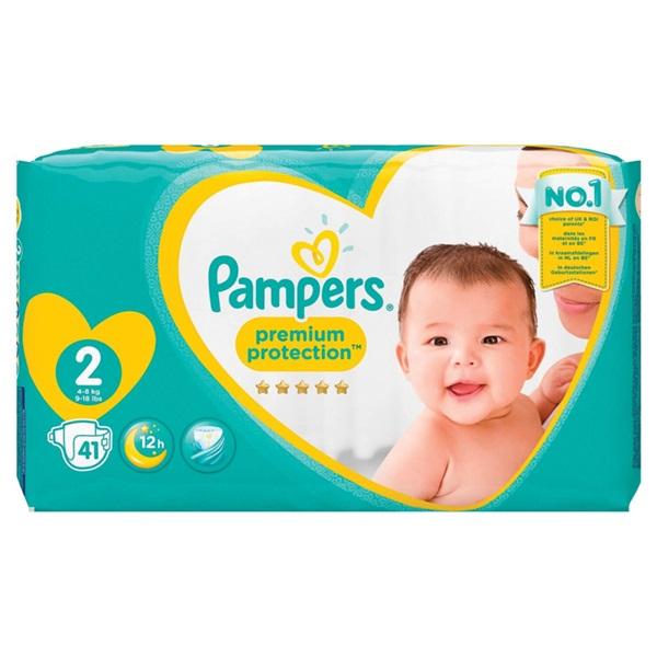 Pampers premium protection luiers new baby maat 2 voorkant