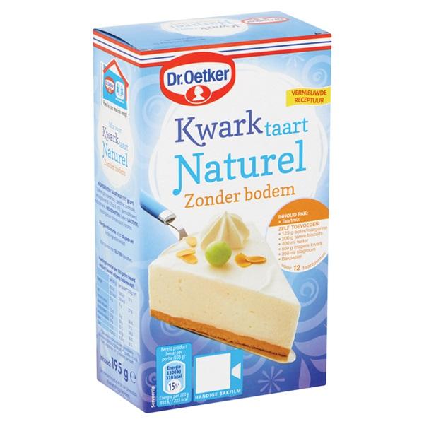 Dr. Oetker Bakmix Kwarktaart Naturel Zonder Bodem achterkant