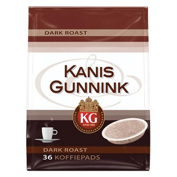 Kanis - Gunnink Pads Koffie Dark Roast voorkant