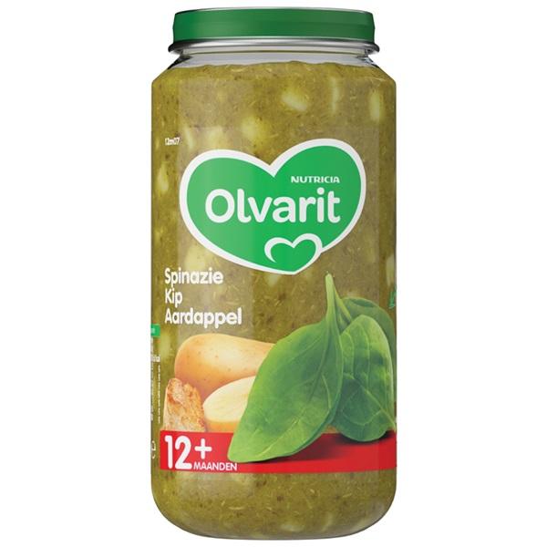 Olvarit Baby/Peuter Maaltijd Spinazie, Kip En Aardappel voorkant