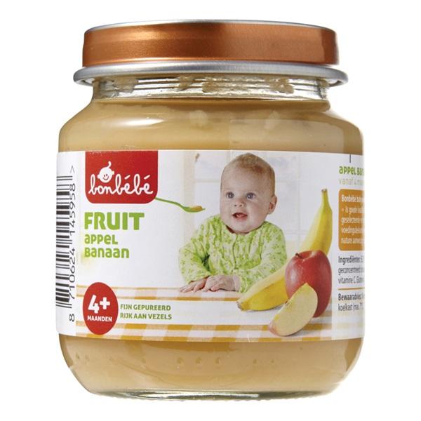 Bonbébé Baby/Peuter Fruithapje Appel En Banaan voorkant