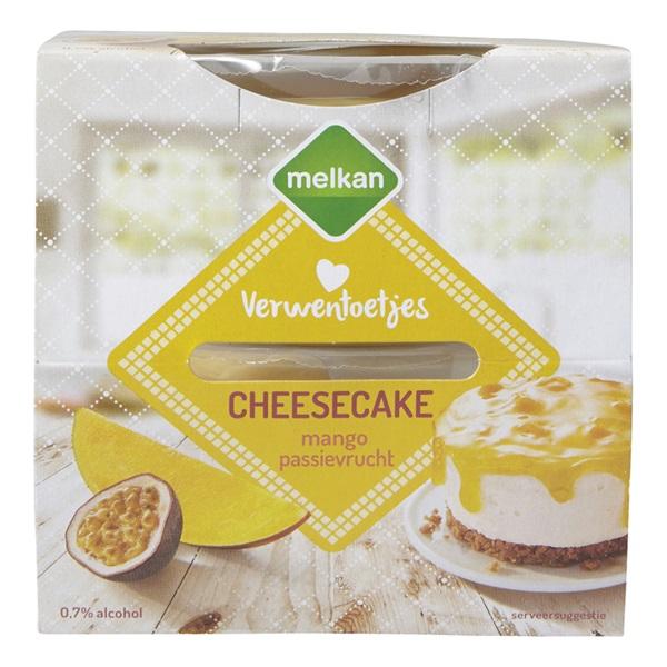 Melkan Cheesecake Mango passievrucht voorkant
