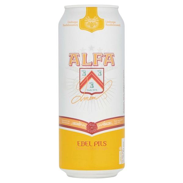 Alfa Edelpils Pils Blik 50 Cl voorkant