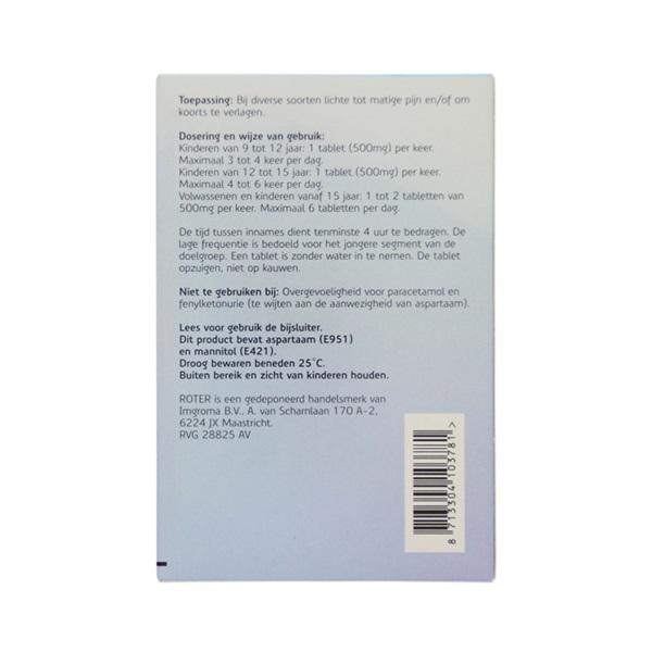 Roter Paracetamol Smelt achterkant