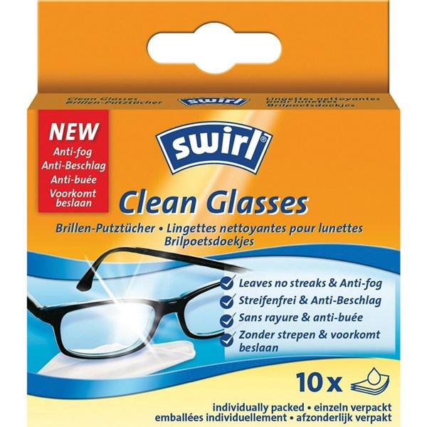 Swirl Clean Glasses Brilpoetsdoekjes voorkant