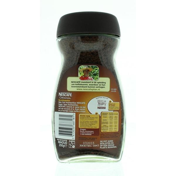 Nescafé Instant Koffie Roodmerk achterkant