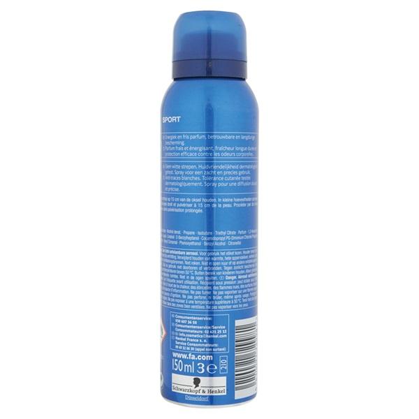 Fa Deodorant Sport achterkant