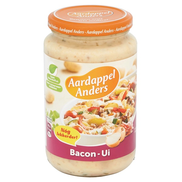 Campbell's Aardappel Anders Bacon Ui achterkant
