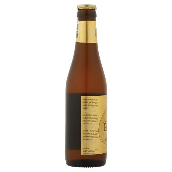 Brugse zot Blond Speciaalbier Fles 33 Cl achterkant
