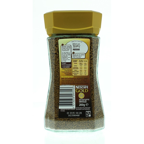 Nescafé Koffie Gold Melange achterkant