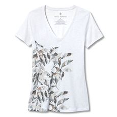 ROYAL ROBBINS LEAF MOTIF V-NECK DAMES