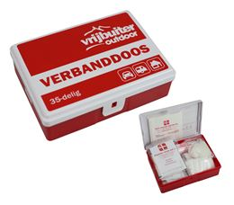 VRIJBUITER OUTDOOR VERBANDDOOS 35-DELIG VB OUTDOOR