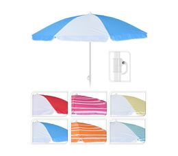 WILDERNESS STRANDPARASOL 150CM - 6 ASSORTI