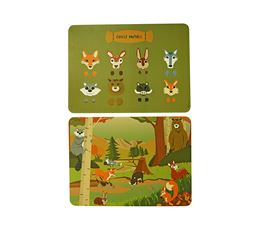 THE ZOO PLACEMAT FOREST ANIMALS - SET VAN 2