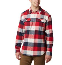 COLUMBIA FLARE GUN STRETCH FLANNEL OVERHEMD HEREN