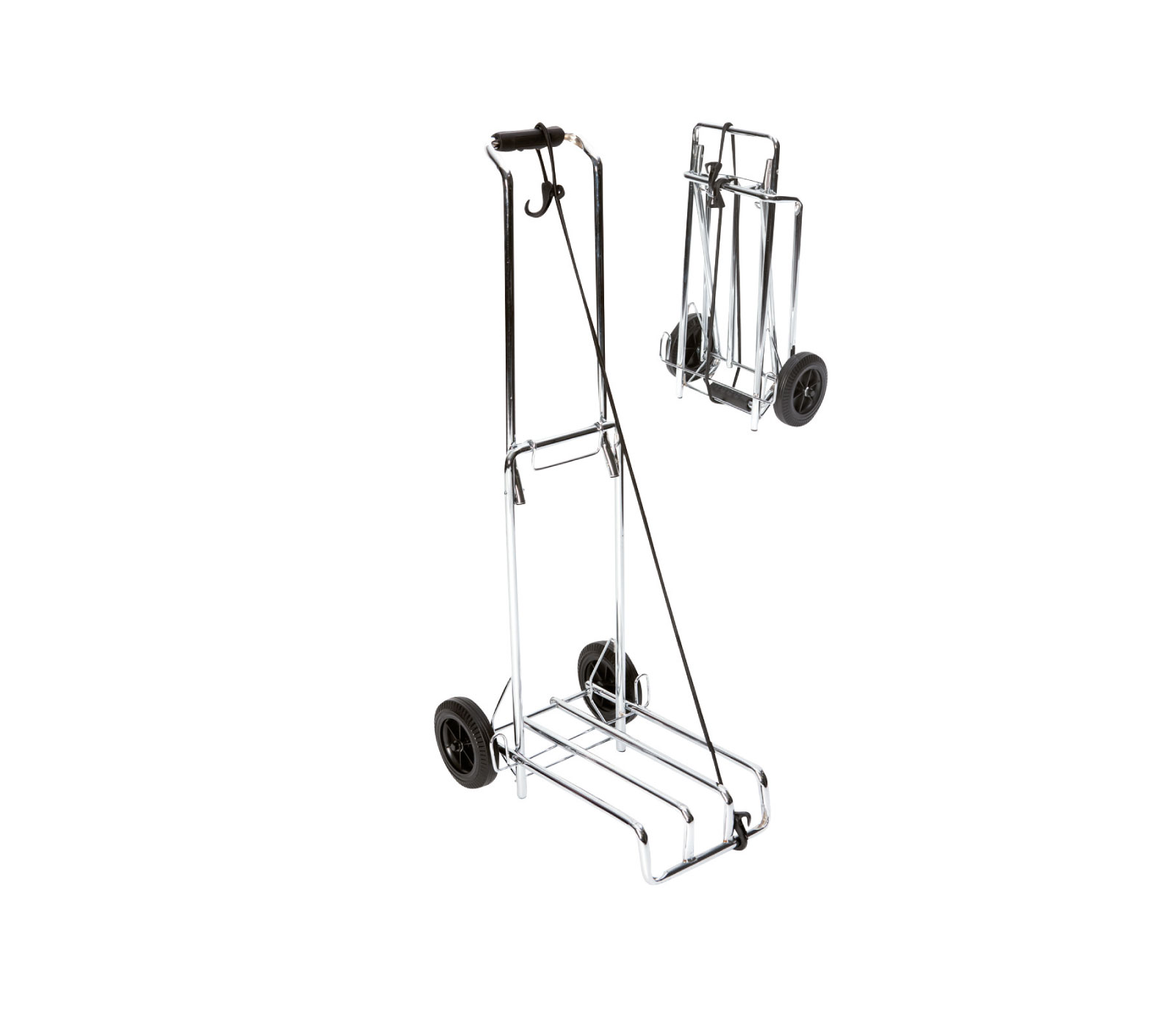 Bo-camp Bagagetrolley Staal