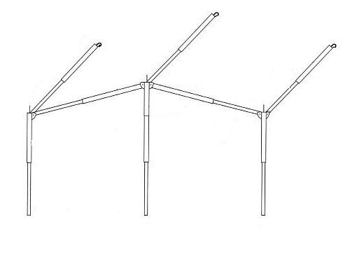 Dorema Easygrip Frame Staal 25mm - 240 Cm
