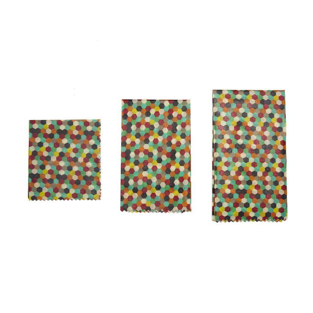 Kikkerland Reusable Beewax Wraps Multicolor