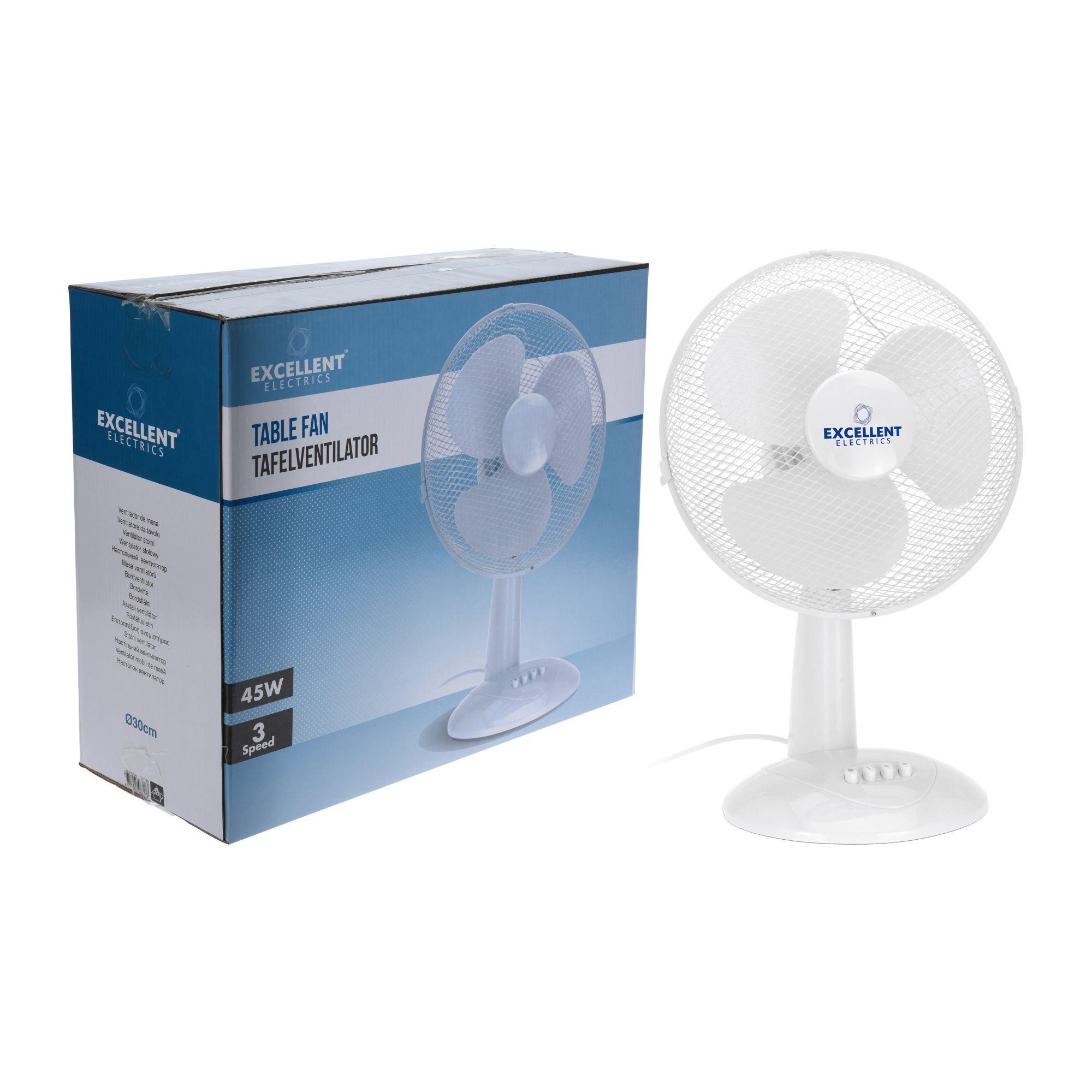 Excellent Electronics Ventilator Tafelmodel 30cm Wit