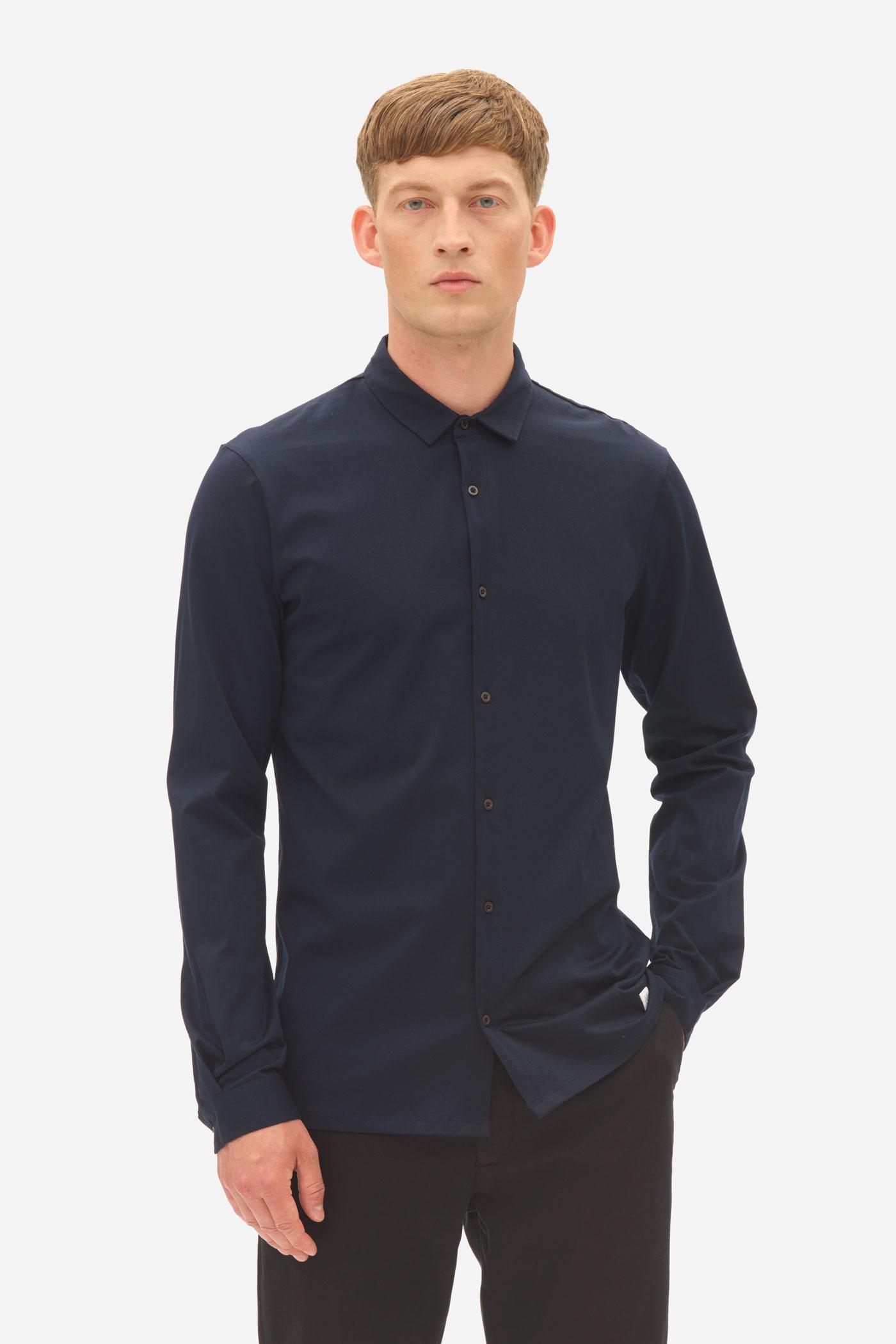 Nowadays Jersey Kent Collar Shirt Heren