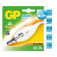 GP Halogeenlamp E14 20W Kaars