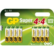 GP Super Alkaline AA 4+4