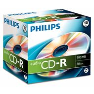 Philips Cd-R 700Mb Audio Jewel Case 10 Stuks
